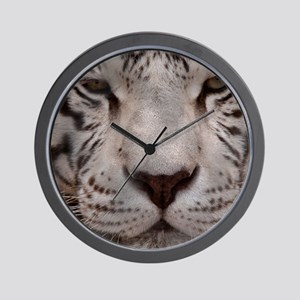 (12) White Tiger 4 Wall Clock