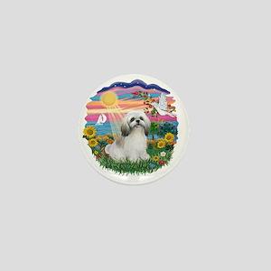 AutumnSun-ShihTzu (wt) Mini Button