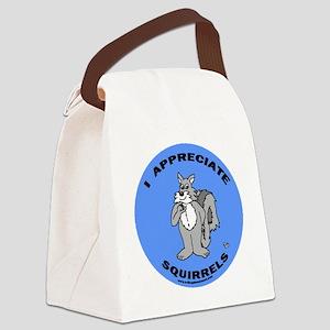 es button Canvas Lunch Bag