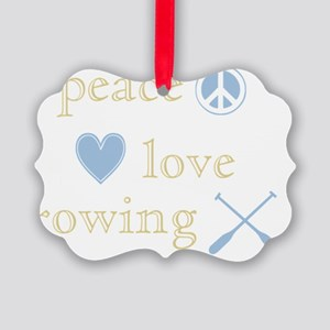 PeaceLoveRowing Picture Ornament