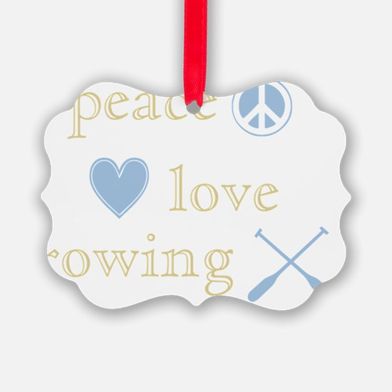 PeaceLoveRowing Ornament