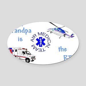 GrandpaRTcamts Oval Car Magnet