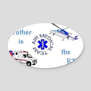 BrotherRTcamts Oval Car Magnet