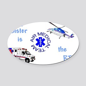 SisterRTcamts Oval Car Magnet
