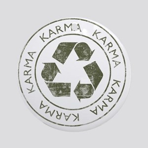 Karma3 Round Ornament
