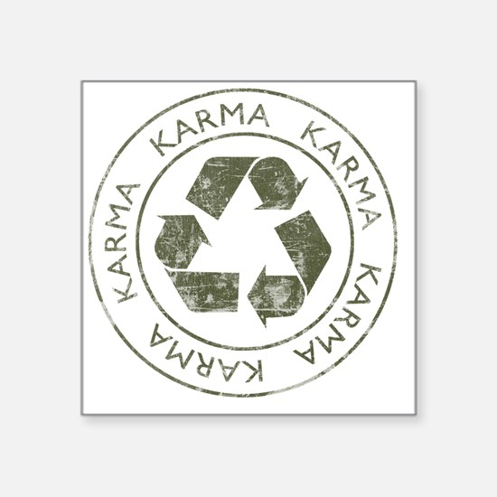 "Karma3 Square Sticker 3"" x 3"""
