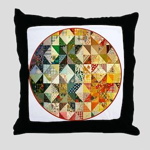 patchwk _Button2_Lg Throw Pillow