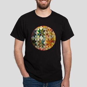 patchwk _Button2_Lg Dark T-Shirt