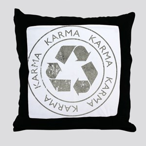 Karma3Bk Throw Pillow