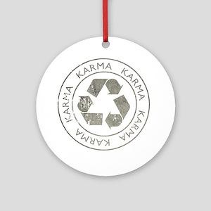 Karma3Bk Round Ornament
