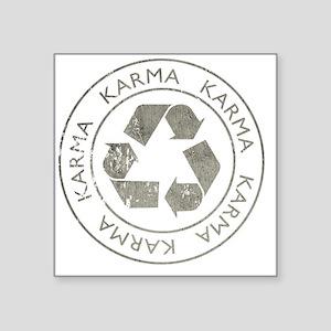 "Karma3Bk Square Sticker 3"" x 3"""