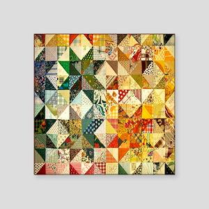 "patchwk 11x11_pillow Square Sticker 3"" x 3"""