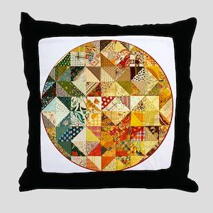 patchwk _Button_Lg Throw Pillow