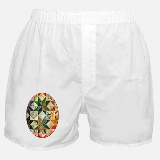 patchwk ornament_oval Boxer Shorts