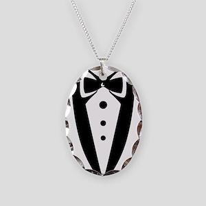 suit2 Necklace Oval Charm