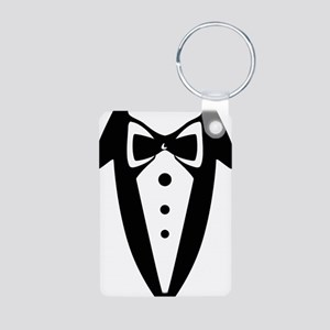 suit2 Aluminum Photo Keychain