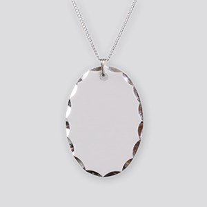 suit2 wh Necklace Oval Charm