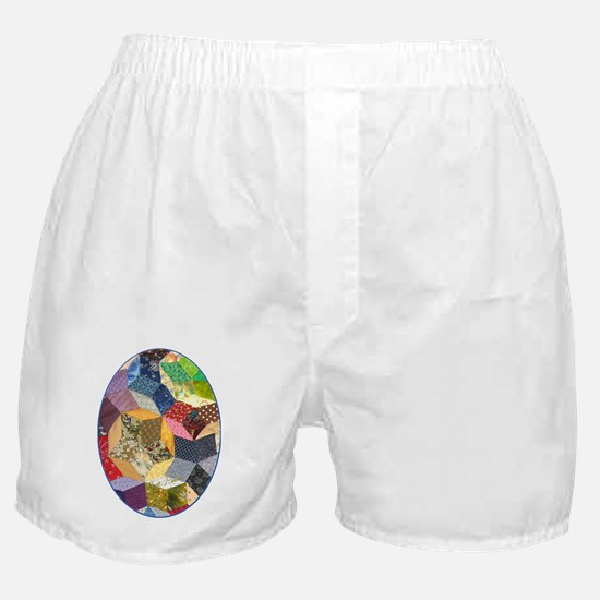 Quilt two ornament_oval Boxer Shorts