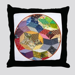 Quilt two _Button_Lg Throw Pillow