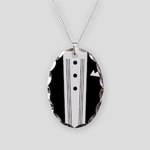 suit1 Necklace Oval Charm
