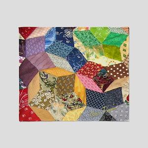 Quilt2 11x11_pillow Throw Blanket