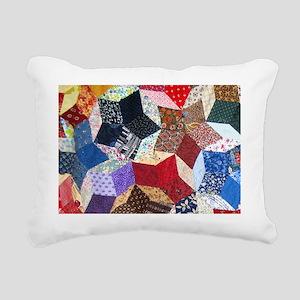 Blocks 1_7.5x5.5_card Rectangular Canvas Pillow