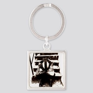 Wolves Square Keychain