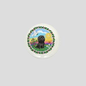 Wreath1-Black Shih Tzu Mini Button