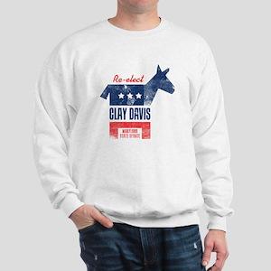 reelectClayDavis_print_23x35 Sweatshirt