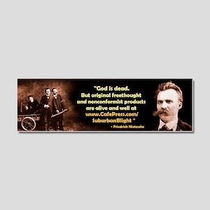 Nietzsche for SuburbanBlight Car Magnet 10 x 3