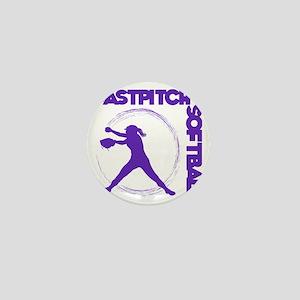 purple, Fastpitch trio Mini Button