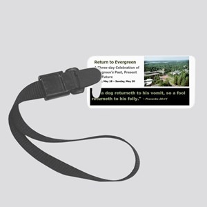 Dog to his vomit Small Luggage Tag