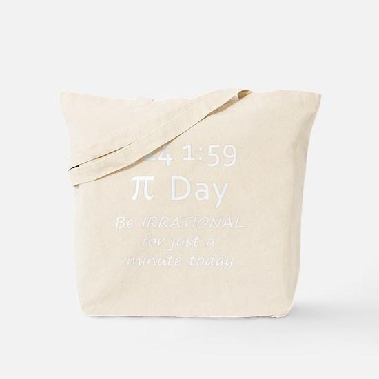 pie-minute-10b-english-white copy Tote Bag