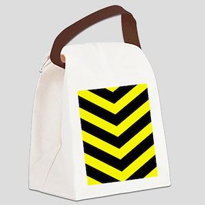 TrafficYellowChevrons2-1 Canvas Lunch Bag