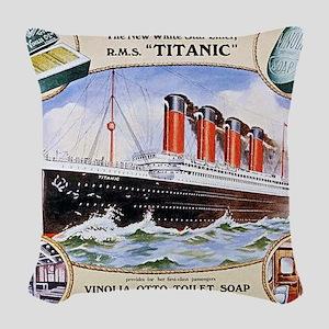 RMS_Titanic_1 Woven Throw Pillow