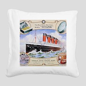 RMS_Titanic_1 Square Canvas Pillow