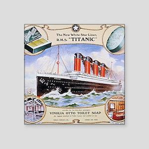 "RMS_Titanic_1 Square Sticker 3"" x 3"""