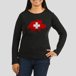 """Pixel Switzerland"" Women's Long Sleeve Dark T-Shi"