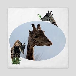 three giraffes Queen Duvet