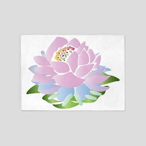 lotus_pastel 5'x7'Area Rug