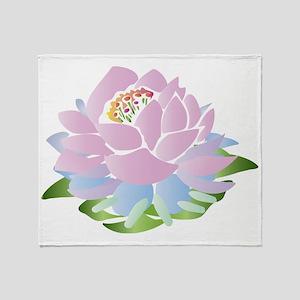lotus_pastel Throw Blanket