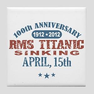 Titanic Sinking 3a Tile Coaster