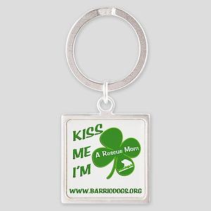 rescuemomlink Square Keychain