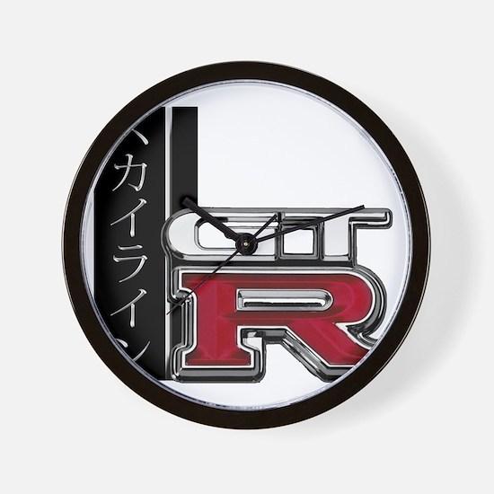 GTR-Katakana Wall Clock