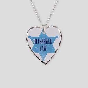marshallLaw_tshirt_white Necklace Heart Charm
