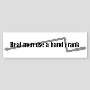 Hand Crank Bumper Sticker