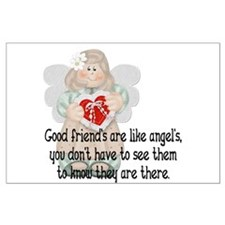 Good Friend's are like Angel' Large Poster