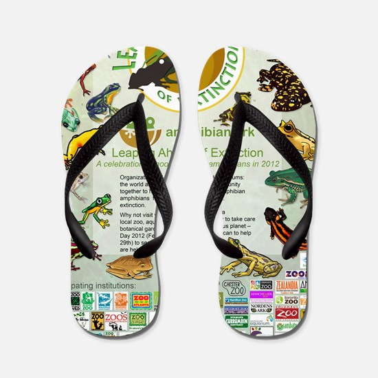 Leaping Ahead of Extinction poster Flip Flops