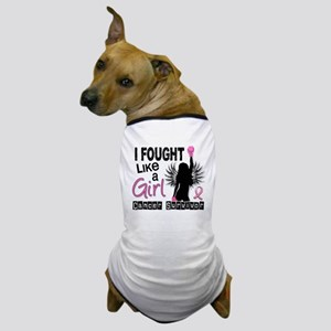 - I Fought Like A Girl 26S Breast Canc Dog T-Shirt
