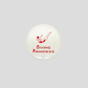 DiveChick Princess Mini Button